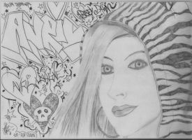 Avril Lavigne drawing 1 by moesa23