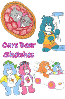 Care Bear Sketches by KimmitheHealer