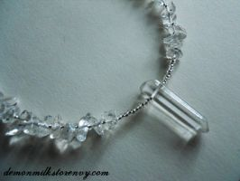 icicle beaded necklace by demonmilk