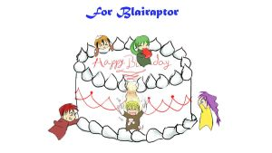 Happy Birthday Blairaptor by TripOverFlatSurfaces