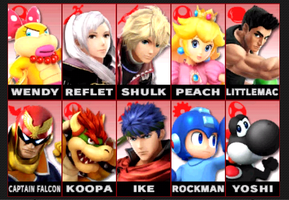 My Main 10 Smash Characters (in order) by tallsimeon2003