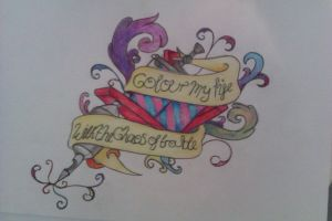 colour my life with the chaos of trouble by MercyTattoos