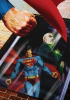 Superman and Luthor by BrianAW