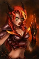 Fire Demoness by tkpanther