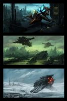 Speedpaintings: SciFi by ReneAigner