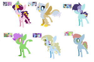 Fan Foal Adoptables Batch Closed by angelstars-adopts
