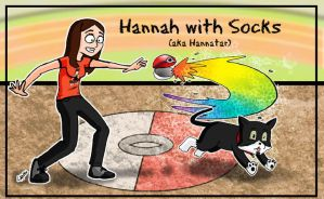 Hannah and Socks by AngelCrusher