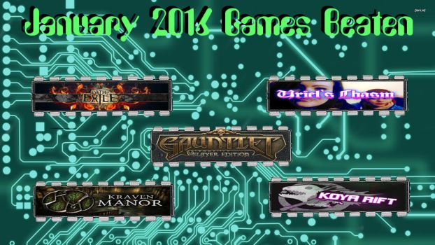 Januany 2016 Games Beaten by elvenbladerogue