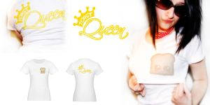 Toast Queen T-shirt by LadyMascara