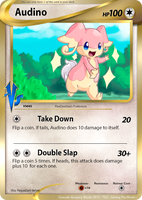 Vs2 UTW Contest - Audino (Fake Card) by PEQUEDARK-VELVET