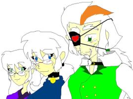 Me, Tay, and Haggus old by chook-four