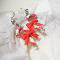 candy cane earrings4 by PetiteCreation