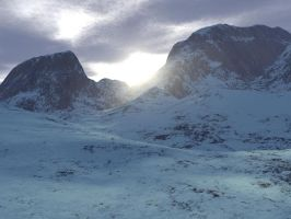 Sunrise in the pass by stormdancerr