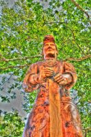 Wooden Statue HDR by RavenA938
