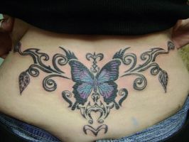 tramp stamp butterfly vines by kenpower