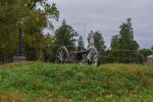 Gettysburg monuments and cannon by ENT2PRI9SE