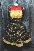 Black and Yellow Birds dress by SeraphimFeathers