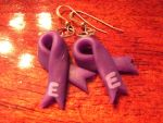 Epilepsy Awareness Earrings by Geisha-Neko