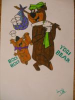 Yogi Bear and Boo Boo by LuciQCZ