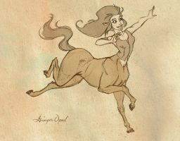 Centaur Girl by GingerOpal