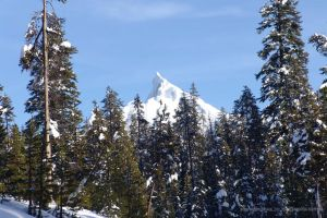 Mt Thielsen Oregon in SNOW by Laurio64