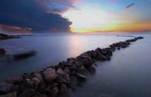 Nightcliff Jetty Sunset by Bobby01