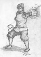 sketchAday: 36  Bolin Earth Bending by May5Rogers99