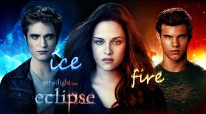 Fire - Ice Eclipse Wallpaper by JeasrpPs