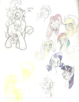 MLP Sketches 3 by Prism-S
