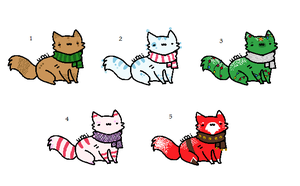 Name your price x-mas cat point adoptables:CLOSED: by xRainbow-adoptsx
