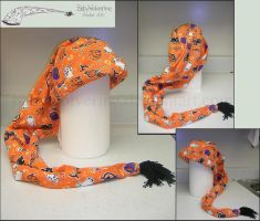 Halloween Scarf Hat by BabyWolverine