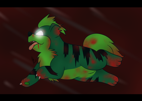 Growlithe Zombie by CommanderMitsuki