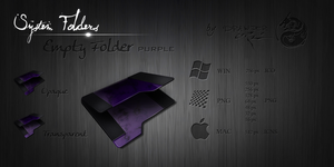 Purple Empty Folder Icon by Drawder