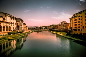Arno River by Findae