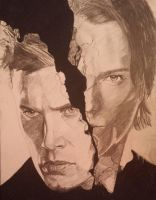 My drawing of sam and dean from supernatural by sketchesnstuff