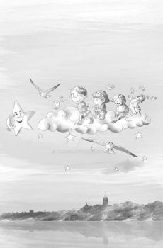 children on a cloud by tanzoo