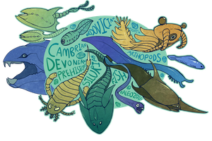 Paleozoic Fish by Skelefrog