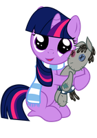 Twilight and smarty pants. by Coltsteelstallion