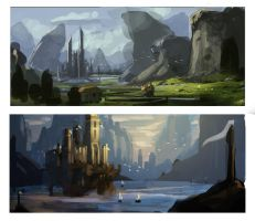 Environment Thumbnails-2 by Rozen-Clowd