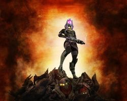 Tali Zorah vas Normandy 2 by Melasfatum