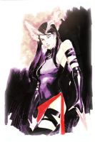 Psylocke quick sketch by Peter-v-Nguyen