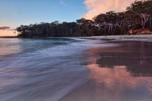 Deserted Beach at Sunrise by FireflyPhotosAust