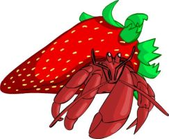 Strawberry crab by Pencil-Fluke