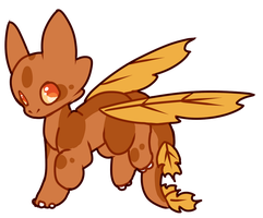 [OPEN - AUCTION] Fall floradragon by Ayinai