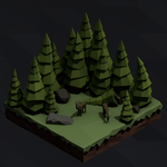 Isometric forest by Rens224