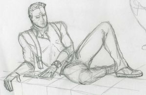 Nathan Drake lying and reading his diary by jamt1989