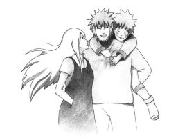 Uzumaki Family by dr4wing-pencil
