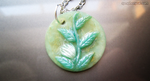 White Flower on Vine Pendant by ShinyCation