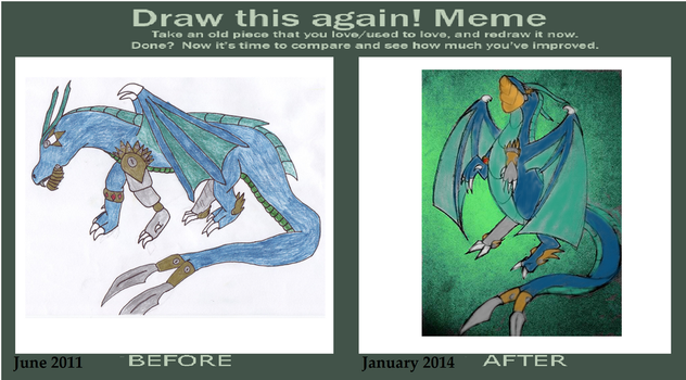 Draw this again- robotic dragon by Endeavor4ever