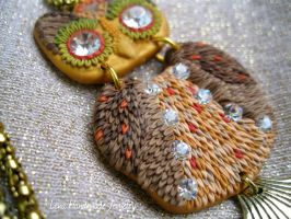 Little Owl Pendant by Lena Handmade Jewelry by LenaHandmadeJewelry